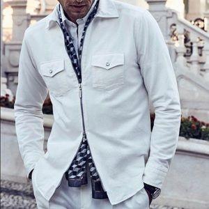💚💚NWOT Eton Zipper Shirt